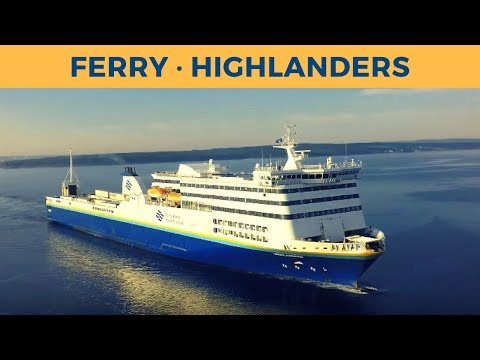 Arrival of ferry HIGHLANDERS in North Sydney (Marine Atlantic)