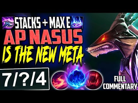 STACKS + MAX E AP NASUS = THE NEW META | THE ONLY WAY TO PLAY | Nasus vs Shen TOP S8 Ranked Gameplay