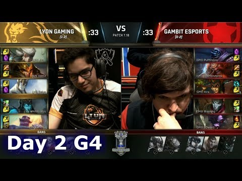 Lyon Gaming vs Gambit | Day 2 of S7 LoL Worlds 2017 Play-in Stage | LYN vs GMB G2