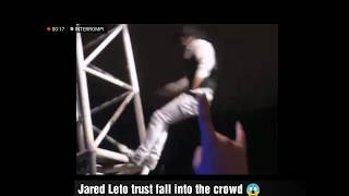 JARED LETO TRUST FALL 😱 INTO THE CROWD