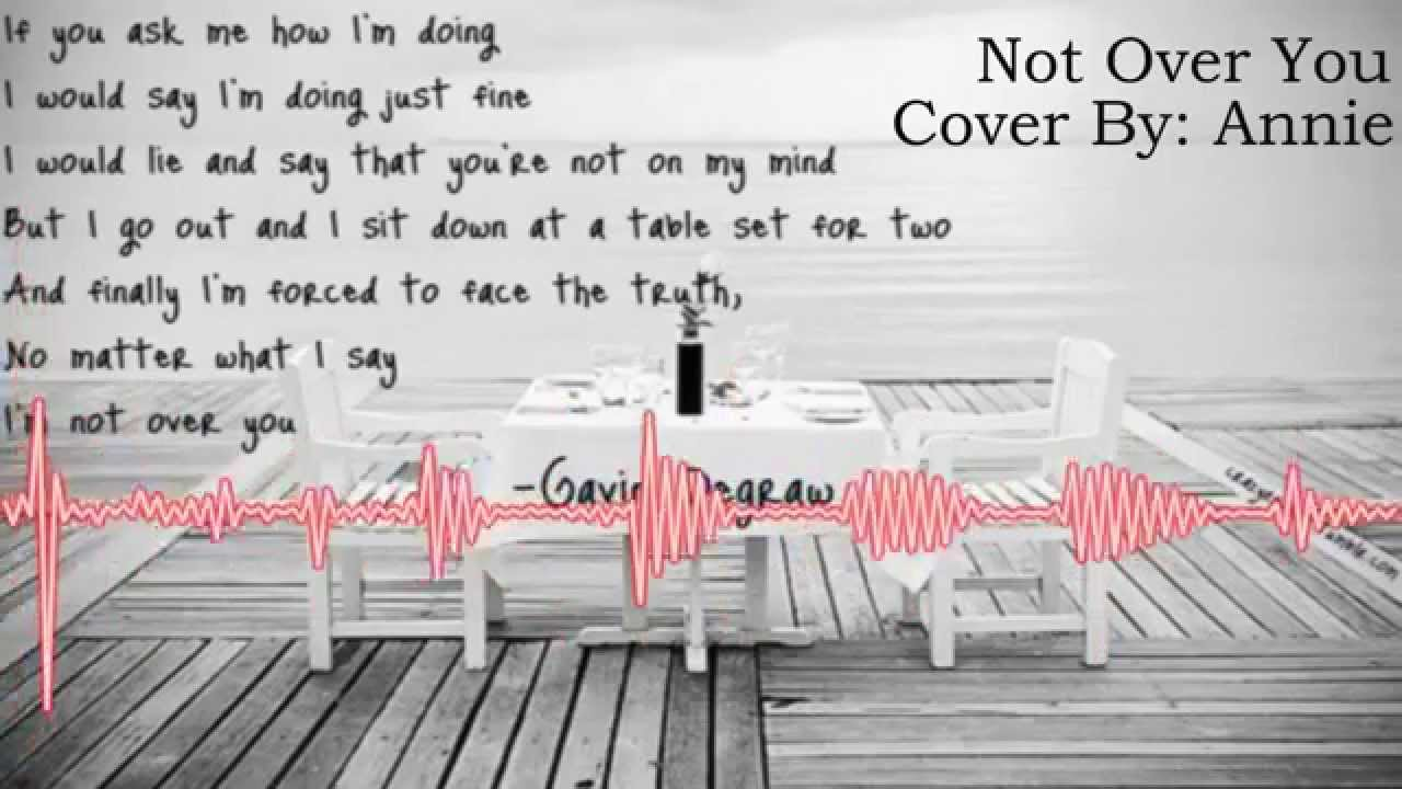 Not Over You - Gavin DeGraw 【Annie】 - YouTube