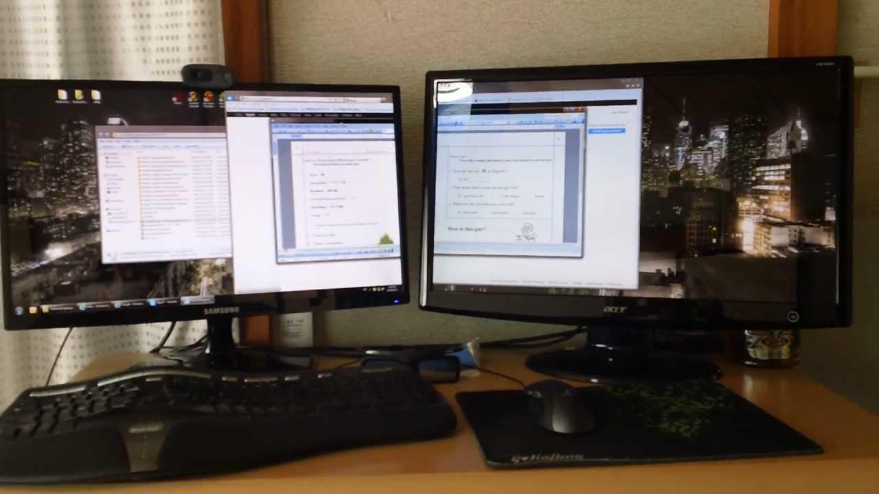 01979ed4c 23 Inch Montior vs 24 Inch Monitor - Size Comparison - YouTube