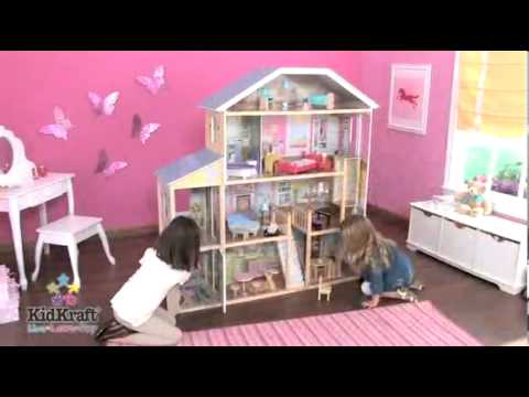 Casita de mu ecas kidkraft majestic mansion en eurekakids youtube - Casa munecas eurekakids ...