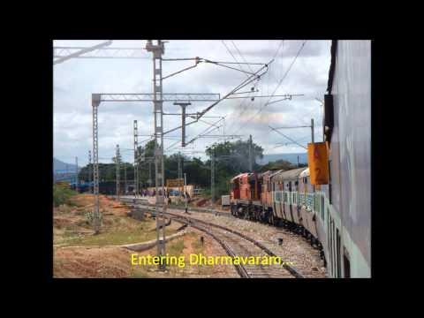Delhi Bangalore 2,400 Km Full Journey Part II: WDM2+WDM3 Combo Karnataka Express