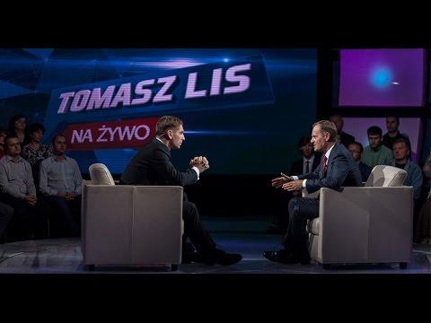 "Donald Tusk w programie ""Tomasz Lis na żywo"""