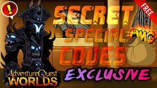 AQW | ALL Secret Special Codes! [EXCLUSIVE!] (2016)