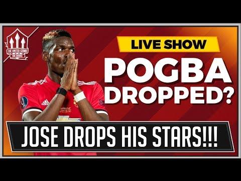 Bournemouth v man united live | pogba and sanchez dropped by mourinho!