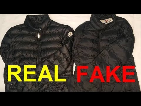 0022d9dcaf8a Real vs. Fake Moncler jacket. How to spot fake Moncler. - YouTube