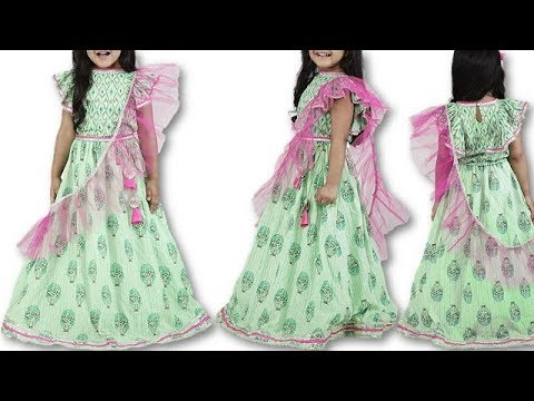 DIY Festive / Wedding wear baby girl Lehenga Choli Cutting Stitching