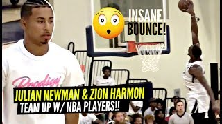 Julian Newman Teams Up w/ NBA Players Derrick Jones & Bam Adebayo!! INSANE BLOCK By Bam