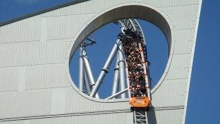 Thunder Dolphin Intamin Hyper Roller Coaster Front Seat POV LaQua Tokyo Dome City Japan