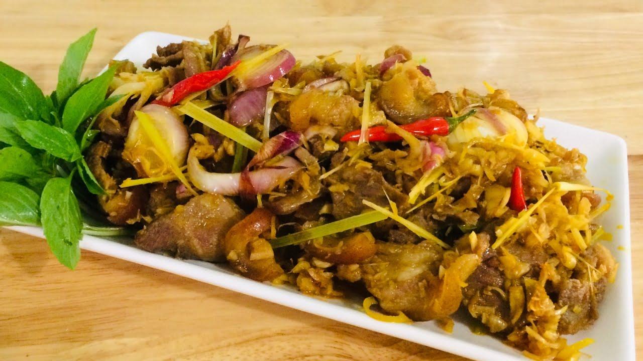 Thịt Nai xào sả ớt ngon, món ngon dễ nấu
