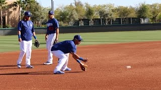 Justin Turner, Alex Guerrero and Rob Segedin Work at 3B | Spring Training 2016
