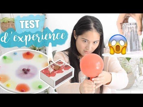 JE TESTE 5 EXPÉRIENCES !!!