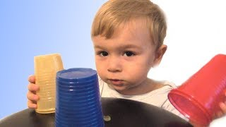 Baby Learn Colors with colored cups