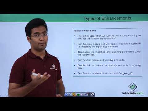 SAP ABAP - Types of Enhancements