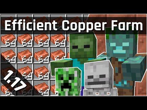 Efficient Copper Farm Tutorial with General Mob Farm | Minecraft 1.17 (Java Edition)