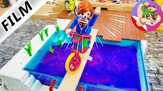 Playmobil Rodzina Wróblewskich | NIE WPADNIJ DO BASENU Z GLUTKIEM challenge w domu Wróblewskich