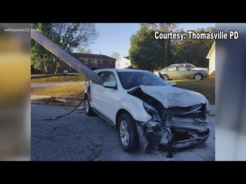 None - Pole Impales Car After Mom Drops Child off at School in Thomasville