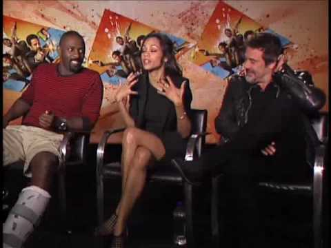 Zoe Saldana,  Jeffrey Dean Morgan and Idris Elba - The Losers Interview