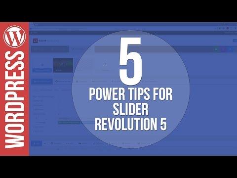 5 Power Tips for Slider Revolution 5 for WordPress - 동영상
