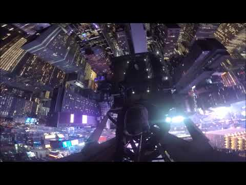 Spire climb and security chase in Times Square