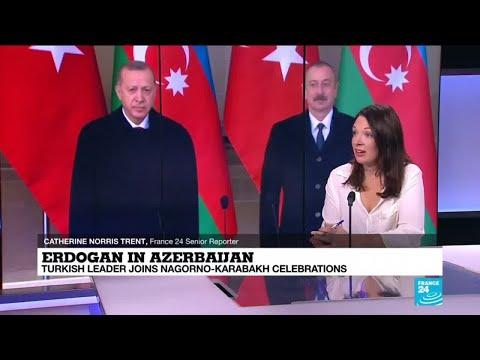 In Baku, Erdogan hails Azerbaijan 'glorious' win over Armenia