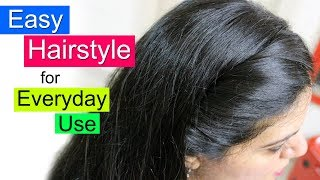 Easy Hairstyles for School, College or Office | Everyday Hair Style | Simple Hairstyle For Girls