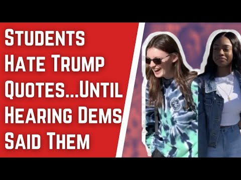 Students Hate Trump SOTU Quotes… Until Hearing They're From 2020 Dem Candidates