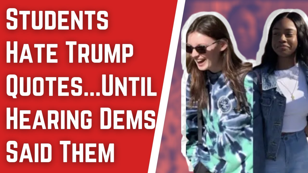 Students Hate Trump Sotu Quotes Until Hearing They Re From 2020 Dem Candidates Youtube His online presence has inspired millions to find their own inner strength. students hate trump sotu quotes until hearing they re from 2020 dem candidates