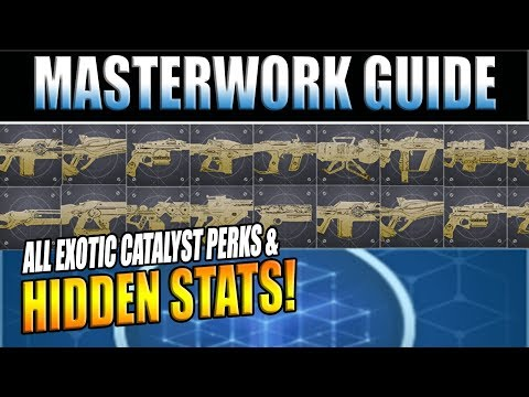 Destiny 2 News | EVERY EXOTIC CATALYST / Masterwork Perk & Stat Change!
