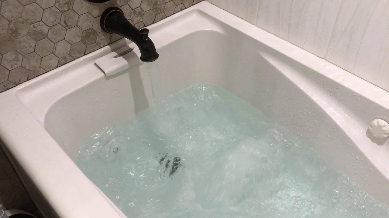 Acrylic Left Drain Rectangular Alcove Whirlpool Bathtub In White