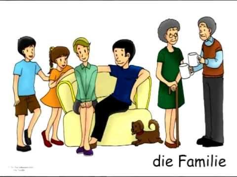 German Family Vocabulary Flashcards - Die Familie - Signalkarten und Bildkarten in Deutsch