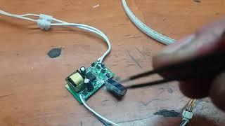 Уменьшение тока LED драйвера светодиодной лампы.