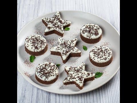 Prăjiturele cu cacao și cremă de brânză