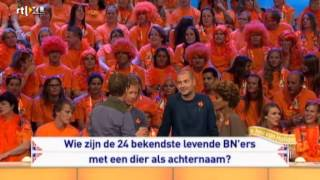 24 levende BN'ers met een dier als achternaam 07-09-2013 (Ik hou van Holland)