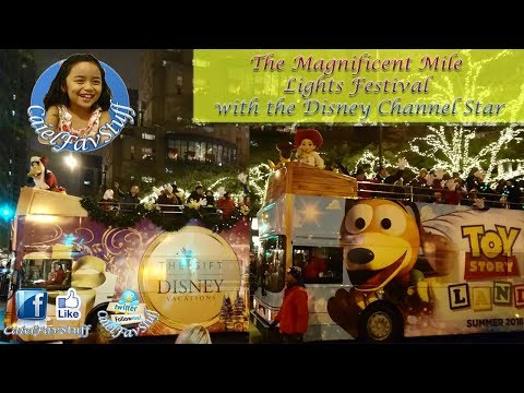 The Magnificent Mile Lights Festival with the Disney Channel Star