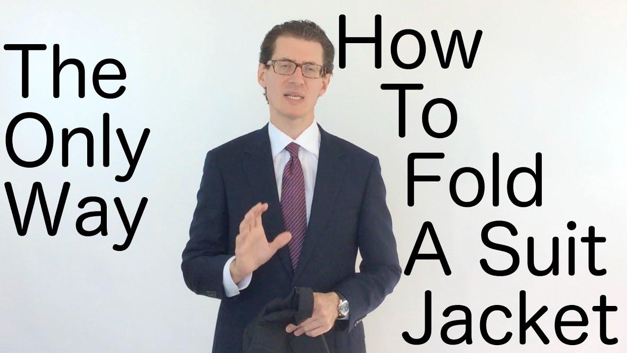 How to fold a jacket