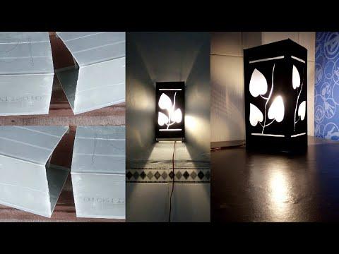 Cara Membuat Lampu Hias Motif Love Dari Pipa Paralon PVC Talangan Air Bekas