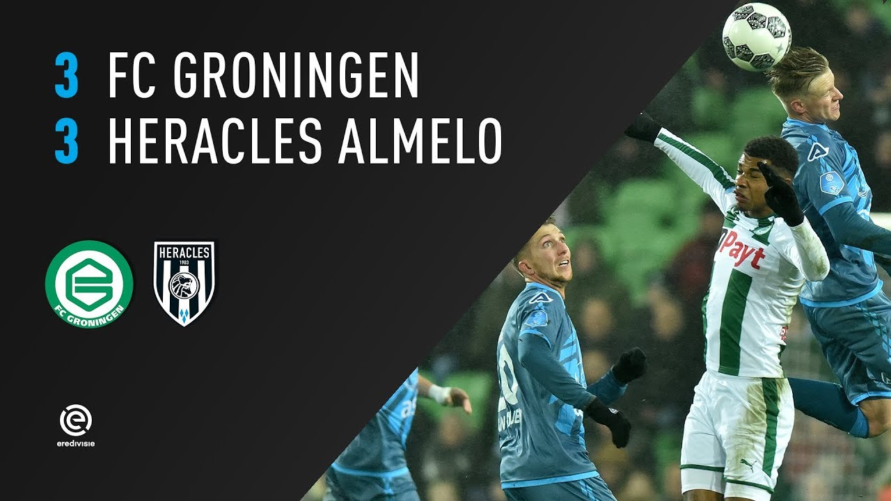 FC Groningen - Heracles Almelo 3-3 | 27-01-2018 | Samenvatting