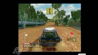 Colin McRae Rally 3 PC Games Gameplay - Crashing in style