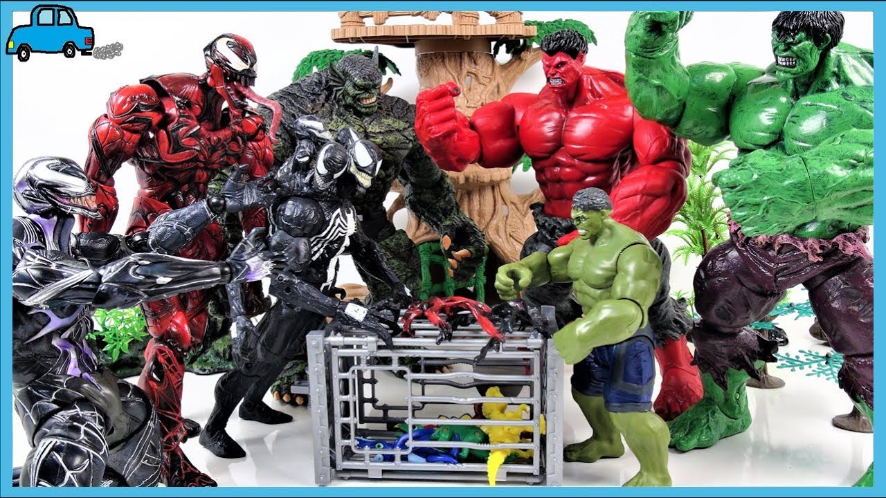Red Hulk, Green Hulk Help! Venom appeared! Avengers ...