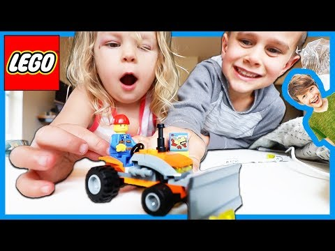 LEGO CITY TOW TRUCK TOWING TRACTOR!