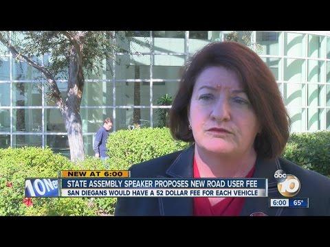 State Assembly Speaker Toni Atkins explains benefits of road fee