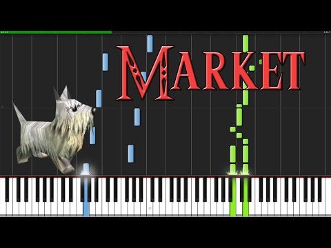 Market - The Legend of Zelda: Ocarina of Time [Piano Tutorial] (Synthesia)