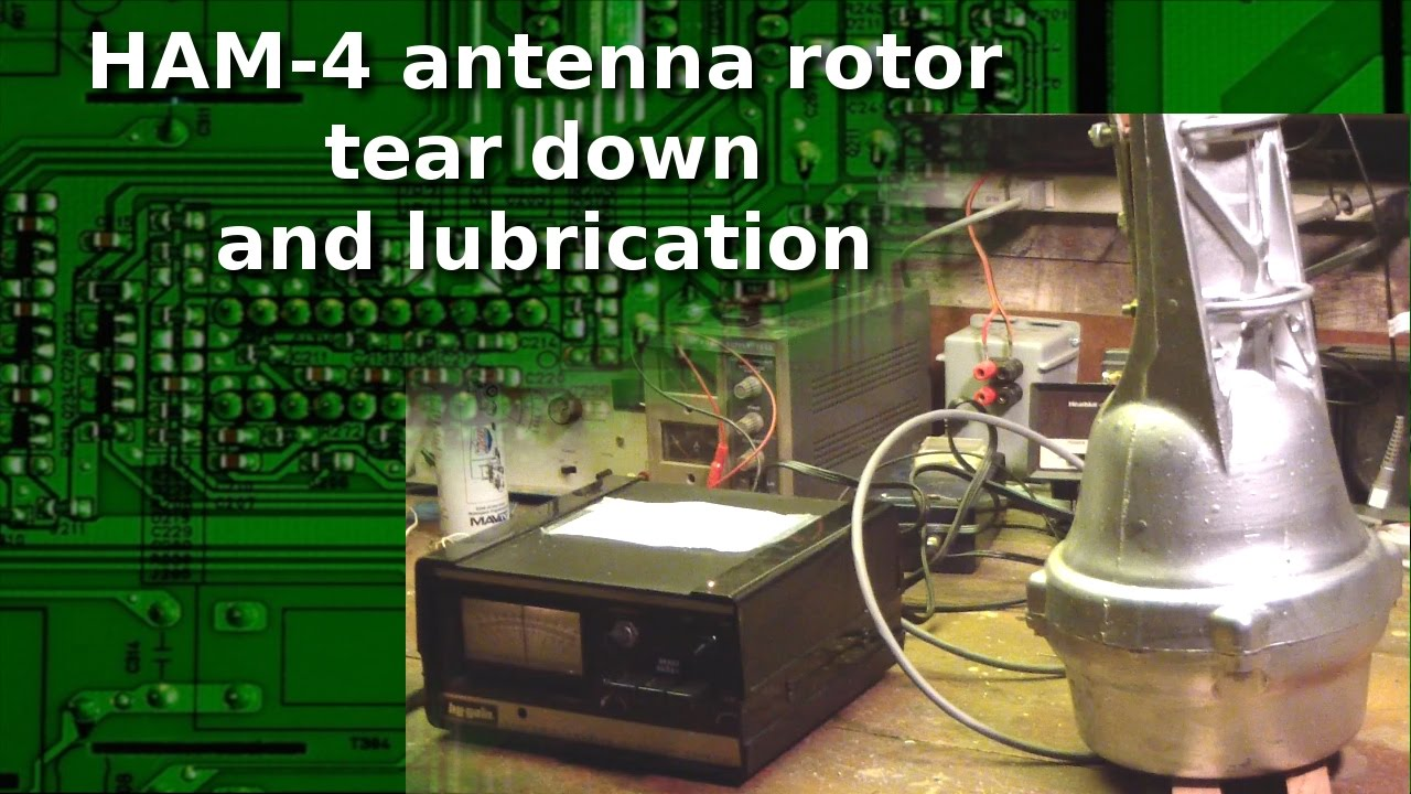 Ham Radio - What's inside an Antenna Rotor? Tear down and lubrication