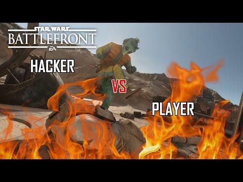 Star Wars Battlefront - INSANE HACKER vs GOOD PLAYER