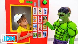 Vlad dan Nikita pahlawan mesin penjual otomatis cerita mainan anak anak