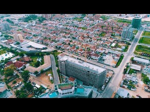 Vue Aérienne Sur Le Centre-Ville De Pointe-Noire. CONGO Vlog #242