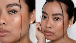 10 Minute Natural Makeup Routine for Dry Skin (NO FOUNDATION) | Jvongphoumy